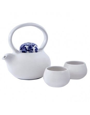 Royal Delft - Theepot Belly + 2 kopjes - delftsblauw