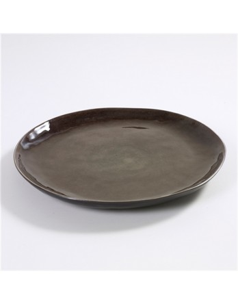 Serax Pure servies - P. Naessens serveerschaal grijs 34cm