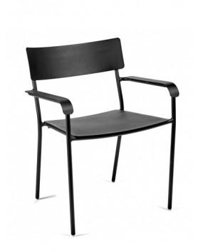 Serax stoel met armleuning August Alu zwart