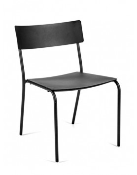 Serax stoel zonder armleuning August Alu zwart