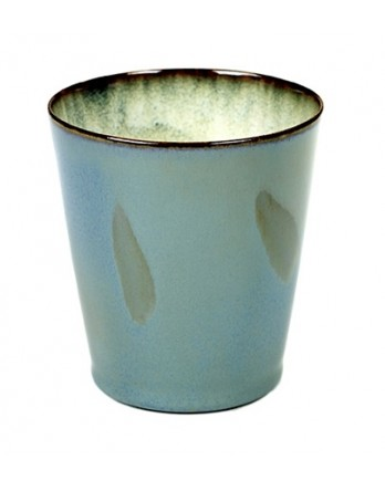Serax servies Terres de Rêves - beker conisch smokey blue