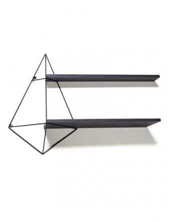 Serax Butterfly shelf zwart hout dubbel 96X22 H64