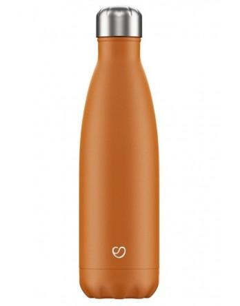 Slokky RVS thermosfles / drinkfles mat oranje 500ml