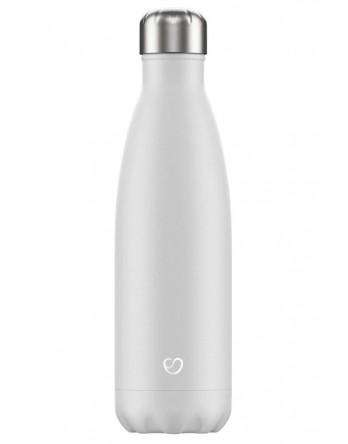 Slokky RVS thermosfles / drinkfles mono wit 500ml