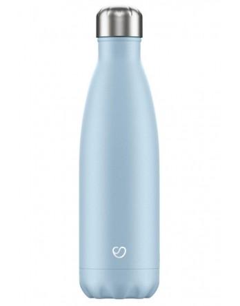 Slokky RVS thermosfles / drinkfles pastel blauw 500ml