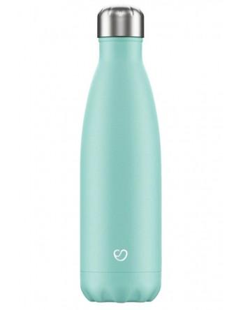 Slokky RVS thermosfles / drinkfles pastel groen 500ml