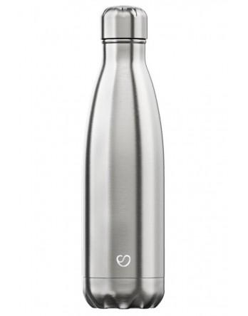 Slokky RVS thermosfles / drinkfles zilver 500ml