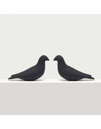Pero bladwijzer - boekenlegger - duif duo - zwart