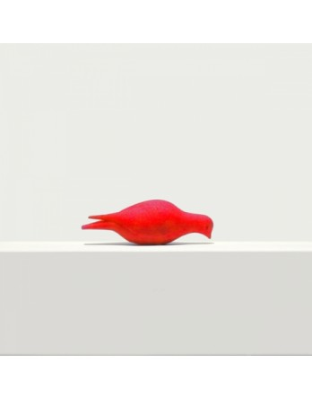 Pero bladwijzer - boekenlegger - duif etend - rood