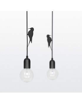 Lamp / Hanglamp Leti - specht - zwart