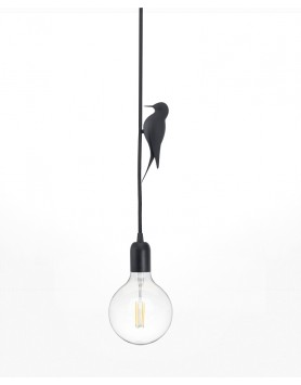 Studio Macura - Lamp / Hanglamp Leti specht zwart