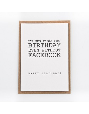 Wenskaart - Birthday on Facebook