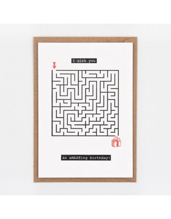 Wenskaart / Letterpress kaart - Amazing Birthday