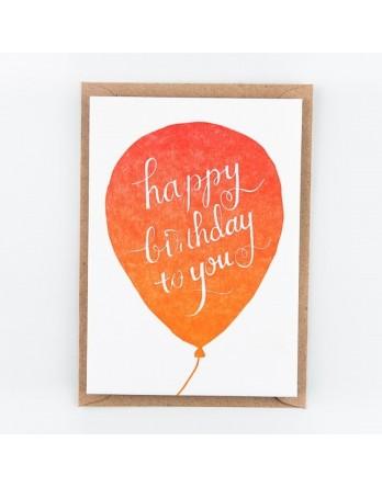 Wenskaart - Happy Birthday to you