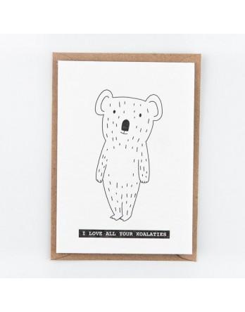 Wenskaart - I love all your koalaties