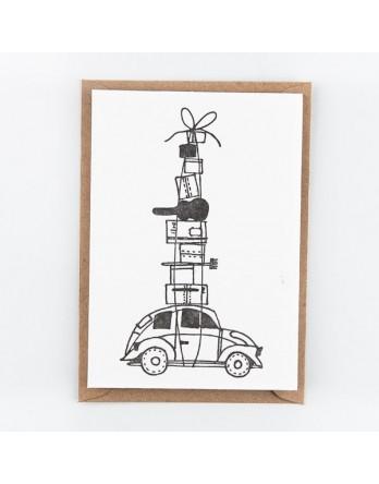 Wenskaart / Letterpress kaart - On the Move