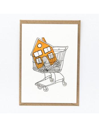 Wenskaart / Letterpress kaart - Lets Ketchup