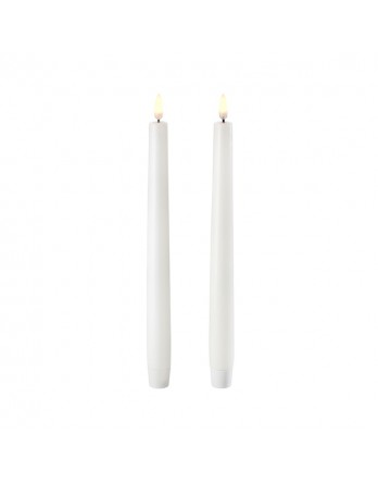 Uyuni Taper LED tafelkaars wax - 2 stuks Nordic Wit