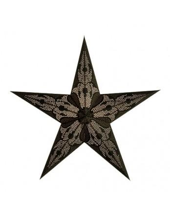 Kerstster Damaskus Black - papier 60cm