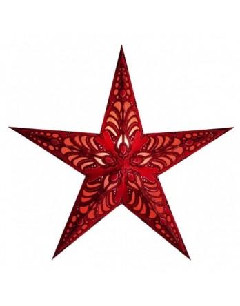 Kerstster Geeta Red - papier 60cm