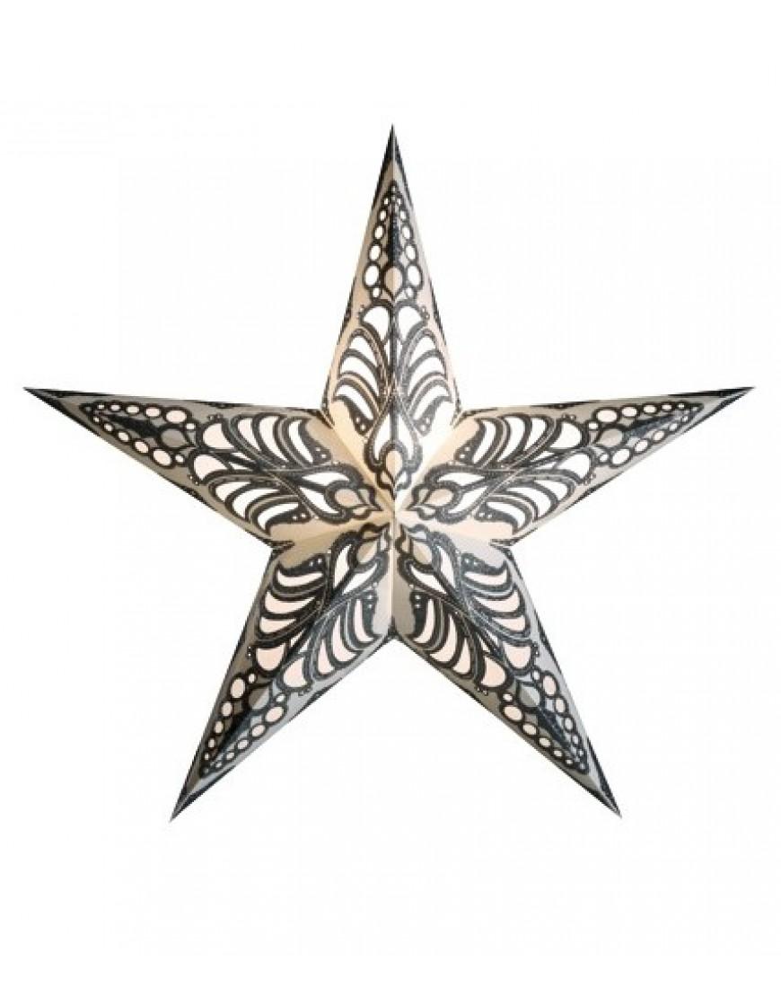 Kerstster Geeta Zilver - papier 60cm