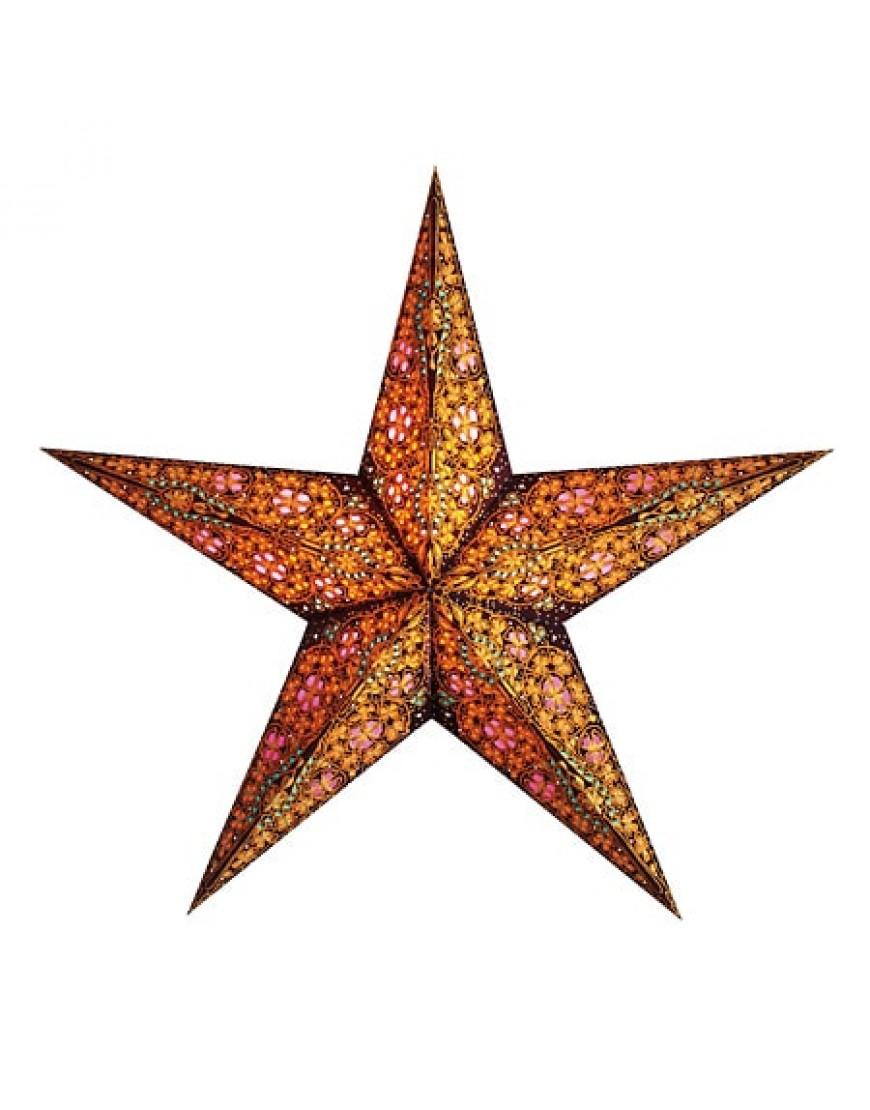 Kerstster Kalea Amber - papier 60cm