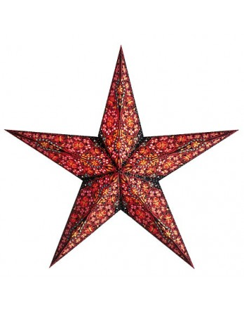Kerstster Kalea Rood - papier 60cm
