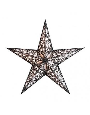 Kerstster Rani Zwart - papier 60cm