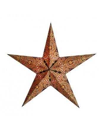 Kerstster Diwali Amber - papier 60cm