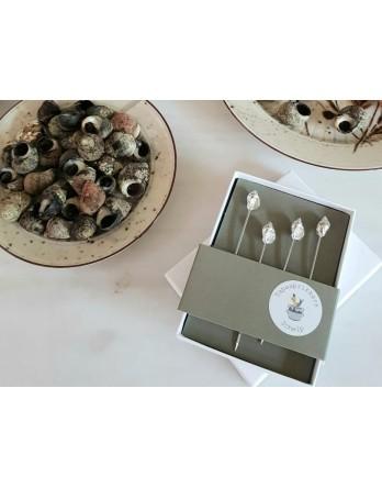 Anovi Luxe Tapas prikkers schelp - set 4 stuks