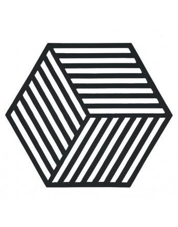 Zone Denmark pannen onderzetter Hexagon zwart