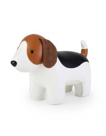 Züny Classic boekensteun beagle bruin / wit