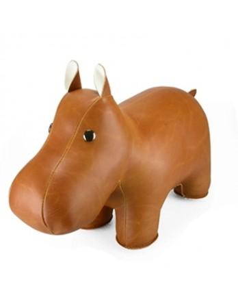 Züny Classic boekensteun Hippo / Nijlpaard bruin