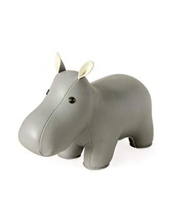 Züny Classic boekensteun Hippo / Nijlpaard grijs