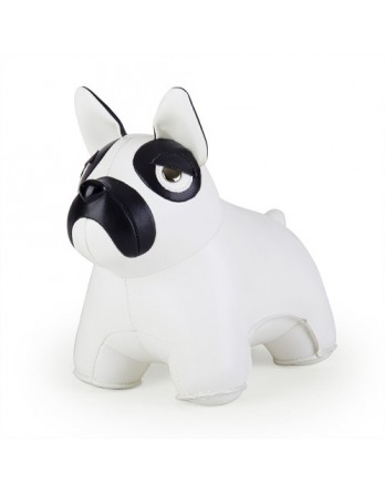 Züny Classic deurstop Franse Bulldog wit / zwart