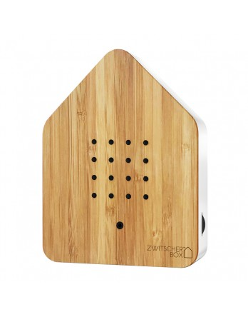 Zwitscherbox Wood vogelhuisje bamboo / wit