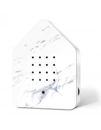 Zwitscherbox vogelhuisje special wit marmer