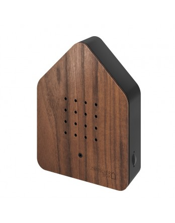 Zwitscherbox Wood vogelhuisje sensor walnoten / zwart